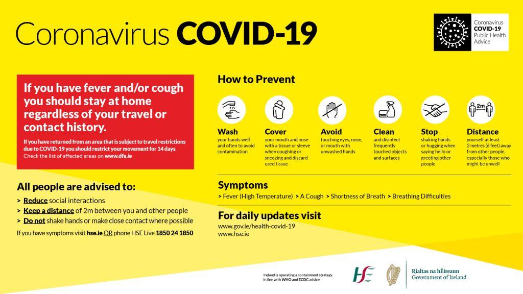 Coronavirus Covid 19 Information Poster